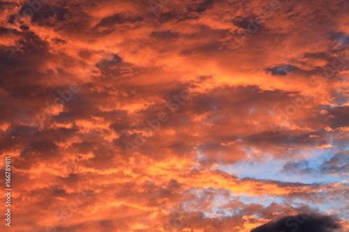 Foto op Canvas Baksteen Evening sky