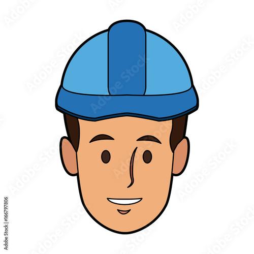 man construction worker labor with helmet