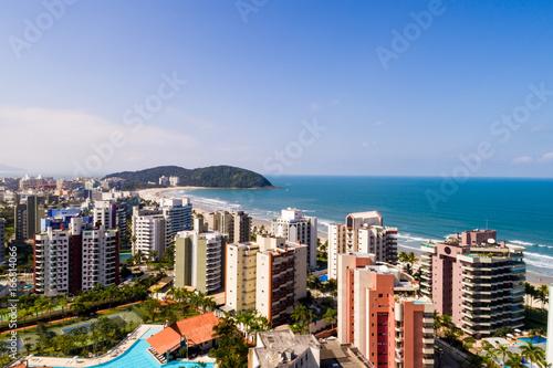 Aerial View of Riviera Sao Lourenco Beach in Sao Paulo, Brazil