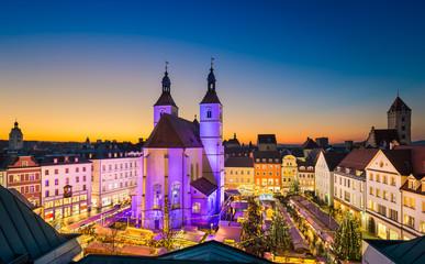 Weihnachtsmarkt in Regensburg, Deutschland