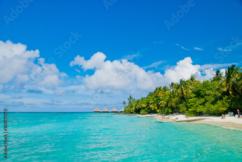 Foto op Plexiglas Tropical strand maldives beach