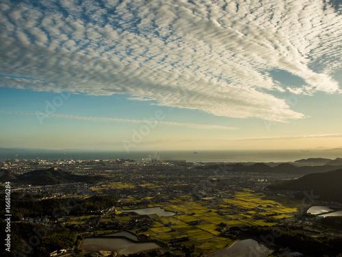 Staande foto Beige 山頂からの眺め