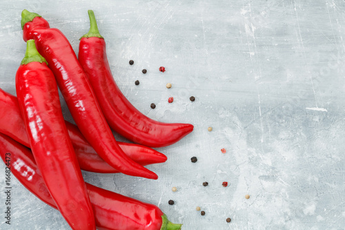 Tuinposter Hot chili peppers Copy space.