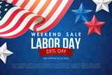 Labor day sale banner design - 166825041
