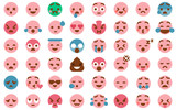 48 Cute Emoticon Pack Collection