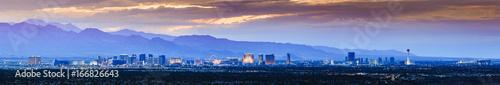 Deurstickers Las Vegas Storm clouds roll in at sunset over Las Vegas, NV