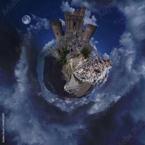 Mini pianeta Castello di Rocca Calascio - Abruzzo - Italia