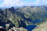 góry Tatry - widok z Rysów