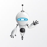 Robot Mascot Illustration Wall Sticker
