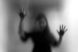 Horror woman behind ...