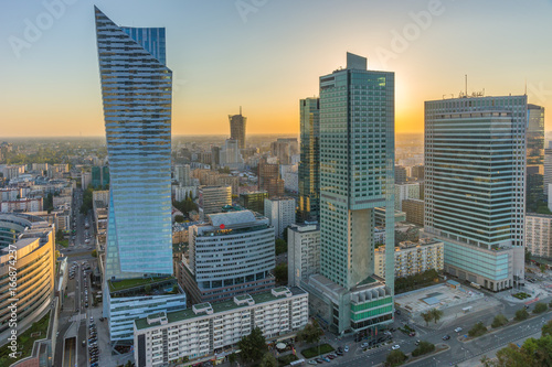 Fototapety, obrazy : City Center of Warsaw, Poland