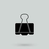 Binder clip icon. - 166891028
