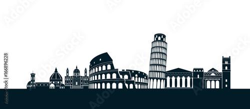 Sicily Outline Images, Stock Photos & Vectors | Shutterstock |Sicily Landmark Silhouette