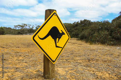 Känguru Straßenschild