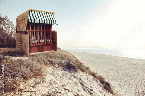 Strandkorb an der Ostsee - 166904441
