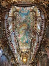 "Постер, картина, фотообои ""Ceiling painting of Asamkirche in Munich, Germany"""