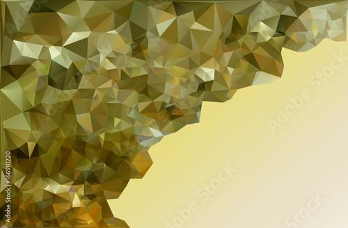 Deurstickers Geometrische dieren Triangle background. Polygon. Vector.