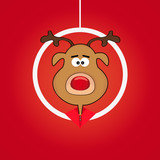 Christmas cartoon red nosed reindeer