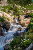 Long Exposure of a waterfall in the Colorado Rocky Mountains