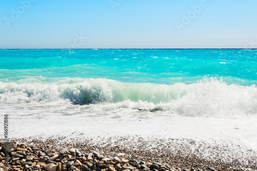 Tuinposter Nice Beautiful sea with turquoise water.