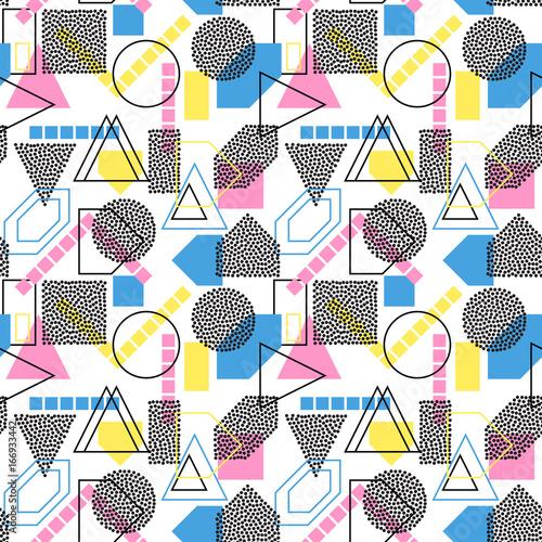 Staande foto Kunstmatig Abstract geometric seamless pattern. Modern texture. Colorful geometric background.