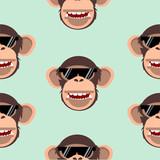 chimpanzee head pattern