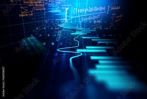 technical financial graph on technology abstract background