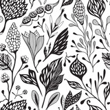 Seamless vector floral pattern - 166944437