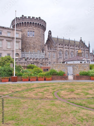 Dublin Castle off Dame Street, Dublin, Ireland, was until 1922 the seat of the United Kingdom government's administration in Ireland, and is now a major Irish government complex Poster