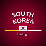 South Korea flag loading bar - tourism banner for travel agencies and for other different events