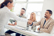 Business people in modern office - 166947461