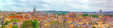 View of the city of Rome from above, from the hill of Terrazza del Pincio. Italy. - 166949251