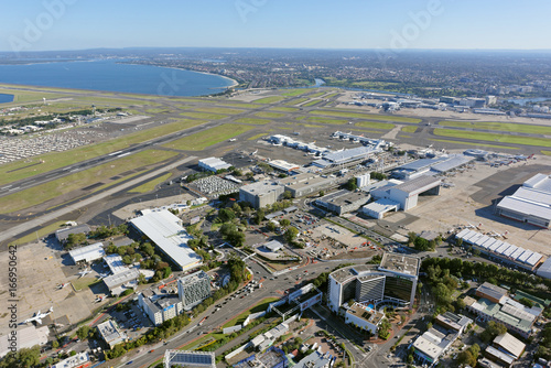 Foto op Canvas Sydney Sydney Airport, Domestic Terminal, looking south-west towards the International Terminal and Brighton-Le-Sands