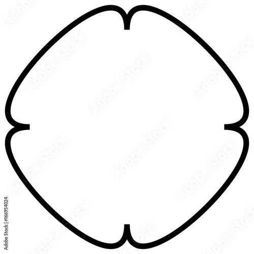 Geometric abstract mandala, spirally geometric shape, object - 166954024