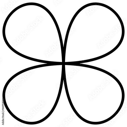 Geometric abstract mandala, spirally geometric shape, object - 166954036