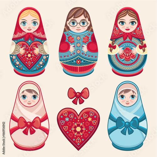 Matryoshka. Babushka doll. Set © Zoya Miller