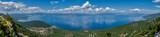 Panorama mountain area with a lake