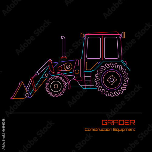 Grader vector illustration