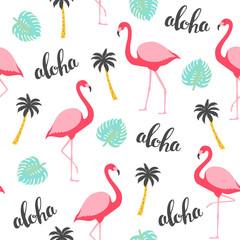 Flamingo seamless pattern. Vector illustration