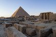 Pyramid of Khafre and old monuments at Giza plateau.