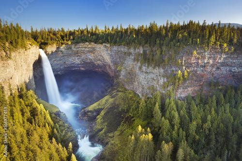 Helmcken Falls in Wells Gray Provincial Park, BC, Canada - 166977459