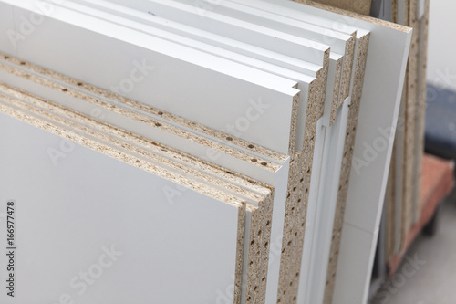 chipboard of different texture wood - 166977478