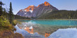 Mount Edith Cavell and lake, Jasper NP, Canada at sunrise