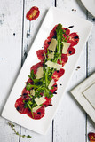 Meat Carpaccio with Rocket Salad