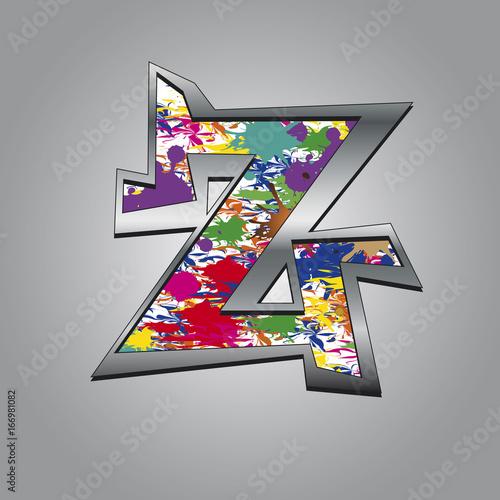 Tuinposter Graffiti Buntgraffiti Z
