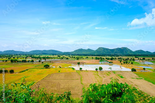blue sky river lake mountain wildlife kanchanaburi thailand