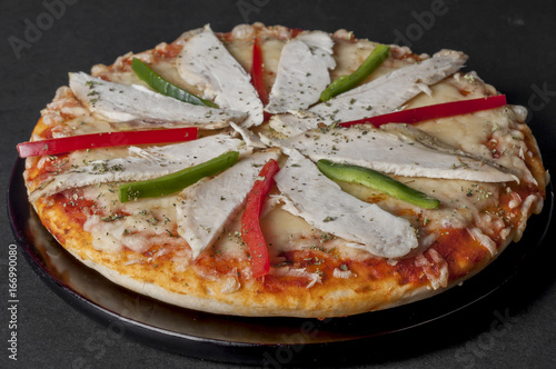 Chicken and Pepper Pizza