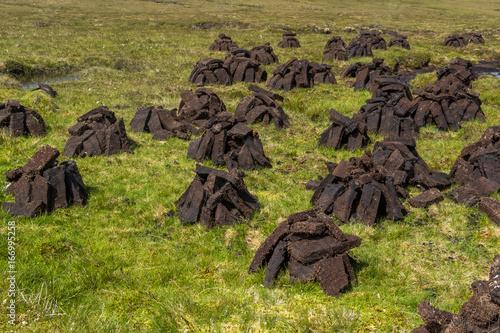 スコットランドの露天ピート採掘場 UK Scotland peat mining Poster