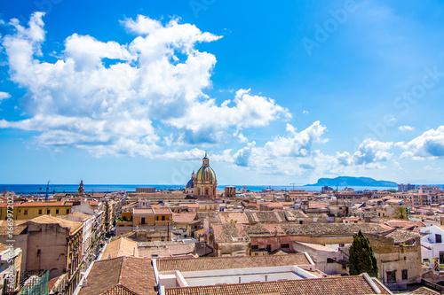 Foto op Aluminium Zalm Cityscape of Palermo in Italy