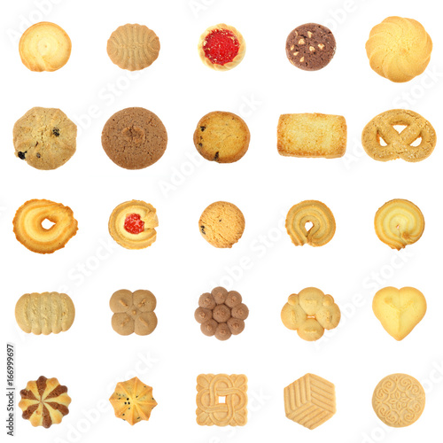 collection cookies set on white background плакат